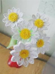 DIY Quilling Paper Daisy Flowers 1