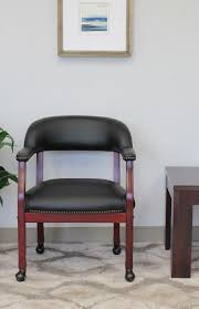 Wood Captains Chair Plans by Boss Office Products Black Ivy League Executive Captains Chair
