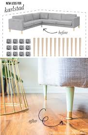 replacing the legs on our ikea karlstad sofa diy projects