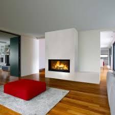 photo de chemine moderne chemine gaz panoramique chemine loft
