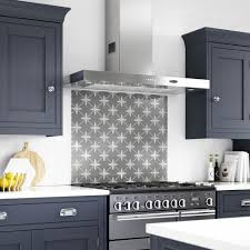 The Wicker Design Above Is A Reworked Archive Print That Has Been Faithfully Reproduced On Glass To Create Stunning Focal Point Behind Cooker