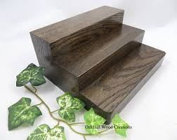 Display Products Stand 3 Tier Oak Wood Craft Show Countertop