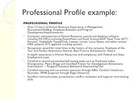 Profile For Resume Professional Collection Of Solutions Examples Word
