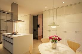 küche mit essbereich und raumteiler zum eßzimmer modern