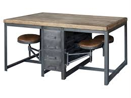 Interior Design Rustic Garden Furniture Wood And Metal Desk Office Sets Patio Simple With