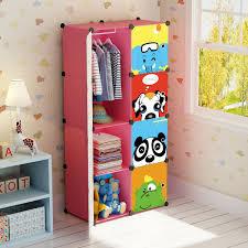 Portable Closets For Kids Girl Clothes Rack Wardrobe Child Dresser