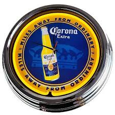 n 0232 wanduhr corona deko neonuhr esszimmer küche