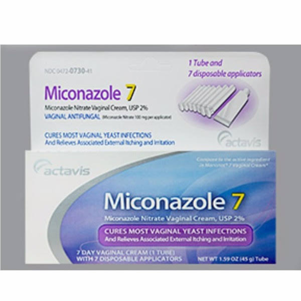 Actavis Miconazole 2 Vaginal Cream - with 7 Applicators, 100mg