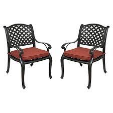 Amazon Nevada Cast Aluminum Patio Dining Chairs Set of 2