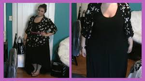 size ootd black maxi dress