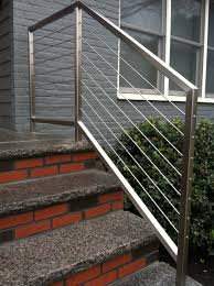 Stainless Steel Cable Stair Rails | Outdoor Handrails | Pinterest ... Metal And Wood Modern Railings The Nancy Album Modern Home Depot Stair Railing Image Of Best Wood Ideas Outdoor Front House Design 2017 Including Exterior Railings By Larizza Custom Interior Wrought Iron Railing Manos A La Obra Garantia Outdoor Steps Improvements Repairs Porch Steps Cable Rail At Concrete Contemporary Outstanding Backyard Decoration Using Light 25 Systems Ideas On Pinterest Deck Austin Iron Traditional For