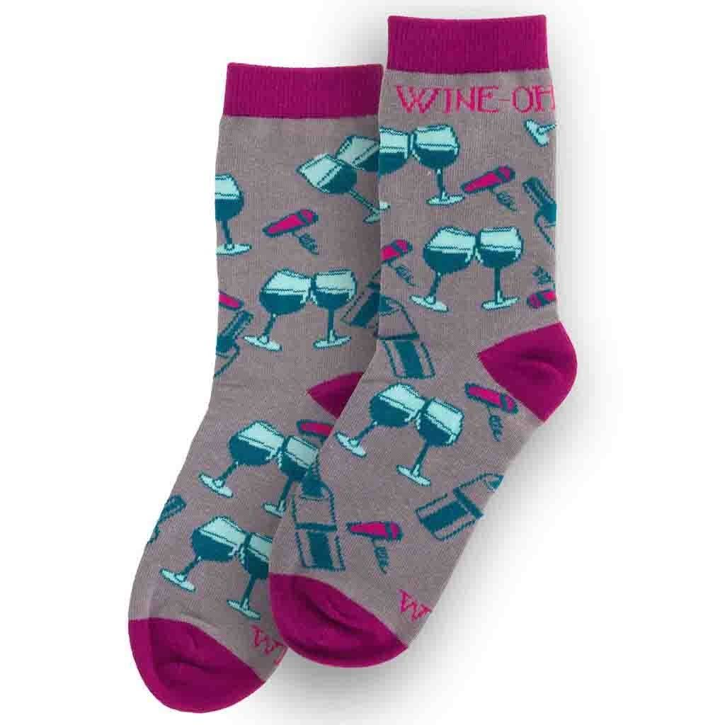 wit Gifts Socks, Wine Glasses