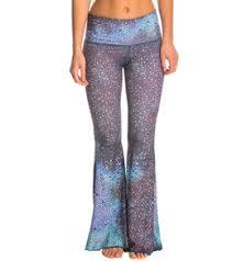 Teeki Teal Mermaid Fairy Queen Bell Bottom Yoga Pants