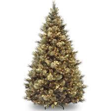 75 Slim Flocked Christmas Tree by National Tree Pre Lit 7 1 2 U0027 Carolina Pine Hinged Artificial