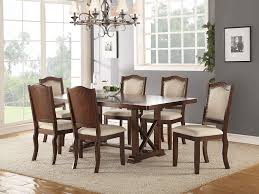 Amazon.com - Esofastore Dining Room Formal Look Classic 7pc ... Cherry Wood Ding Table And Chairs Chateau De Ville Formal Room With Leatherette Rowena Cream White Fniture Suitable Add Ding Room Wall Rustic Finish Woptions Coaster Tabitha Double Pedestal Pc Set Seat In Black Style Kincaid Park Group Traditional Kitchen Fancy Elegant Cherry Wood Formal Sets Cityofchelmsrdinfo