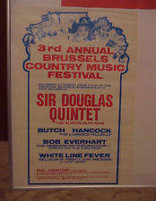 Original Set 3rd Annual Brussels Country Music Festival Posters