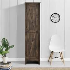 Image Is Loading Tall Narrow Storage Cabinet Rustic Farmhouse Style Food