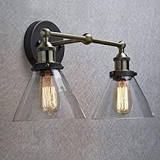 claxy ecopower industrial edison antique glass 1 light wall