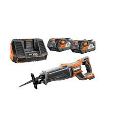 RIDGID 18 Volt Cordless Lithium Ion Brushless Reciprocating Saw