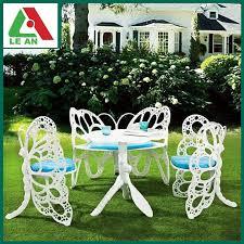 Cast Aluminum Patio Furniture With Sunbrella Cushions by Brick House Butterfly Patio Furniture Cast Aluminum Garden Chair