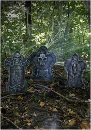 Diy Halloween Wood Tombstones by Halloween Graveyard Props And Decorations Cemetery Decorations