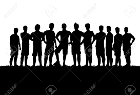 Silhouettes Soccer Team Royalty Free Cliparts Vectors And