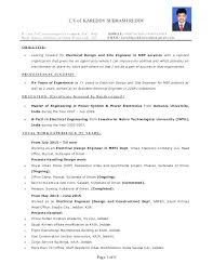 Electrician Resume Sample New Philippines