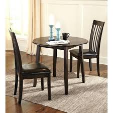 3pc Kitchen Table Set 3 Piece Dining Room In Dark Brown Home Design Games Unblocked