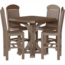 Poly Square Bar Table Chairs Beautiful Wooden Rectangular ...