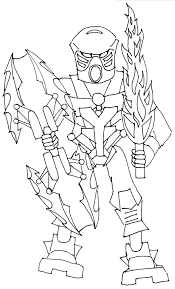 Bionicle Coloring Pages Printable