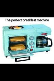 Retro Blue Breakfast Center Toaster Oven Purple