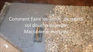 comment faire les joints de galets sol italienne maçonnerie