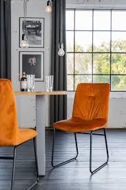 kawola stuhl zita esszimmerstuhl velvet orange