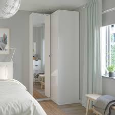 pax corner wardrobe white fardal vikedal ikea