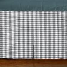 Decent Cotton Box Pleat GREY Gingham Bed Skirt Tailored Bedskirt