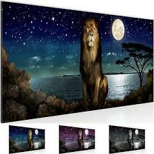 wandbilder schlafzimmer afrika löwe moderne bilder