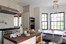 Butcher Block Top Island With Baskets