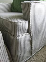 Custom Slipcovers By Shelley: Ticking Stripe Chair