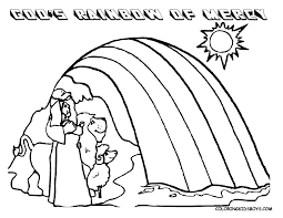 Bible Noah Rainbow Coloring Pages For Kids Free