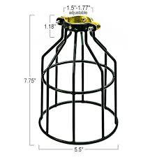 light bulb cage black plt mc200