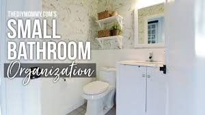 Organization DIY + Home Decor Challenge: Powder Room / Small ... Cathey With An E Saturdays Seven Bathroom Organization And Storage Small Ideas The Country Chic Cottage 20 Best Organizers To Try Small Bathroom Organization Ideas Visiontotalco 12 15 Why Choosing Trend Home Daily 11 Fantastic Organizing A Cultivated Nest New Ladder Shelf Youtube 28 Images 53 48 Inch Double Weathered Fox