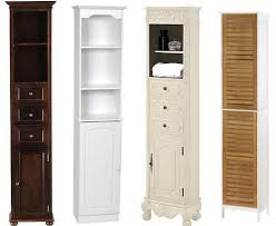 white cabinets with pulls narrow bathroom tower cabinets tall