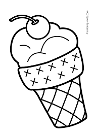 Summer Coloring Pages With Ice Cream For Kids Seasons Printable Free