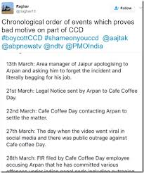 Jaipur Cafe Coffee Day Sequence Of Events Cockroaches