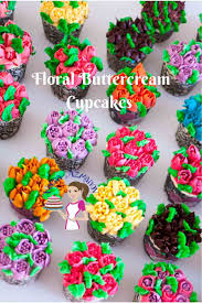 Floral Buttercream Cupcakes With Russian Piping Tips