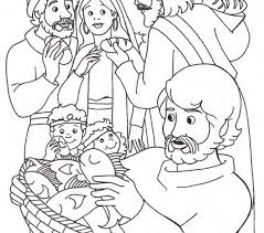 Jesus Feeds 5000 Coloring Pages Free Download 46 Best Bible