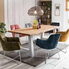 esszimmertisch aus eiche mit baumkante jerne
