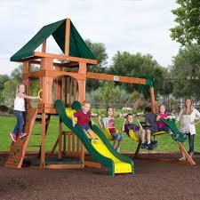 Backyard Discovery Santa Fe All Cedar Swingset - Toys