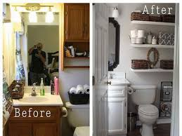 Small Bathroom Pictures Before And After by Small Bathroom Makeovers Before And After Small Half Bathroom