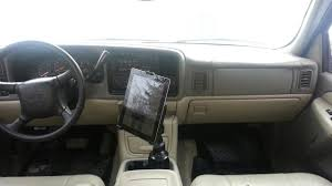 My Chevy Tahoe With Its New IPad Ram Mount Gallery Article Ipad Iphone Android Mounts From Ipod And Mp3 Car Adapter Kits Accsories Ivapo Headrest Mount Seat Cars Seats Scion Tc Diy Incar Mount Apple Forum My Chevy Tahoe With Its New Ram Gallery Article Ipad Install Into Dash 99 F250 Ford Truck Enthusiasts Forums Ibolt Tabdock Flexpro Heavy Duty Floor For All 7 10 Holder 2 Thesnuggcom Canada Wall Tablet Display Stand Stands Enterprise Series Get Eld The Scenic Route Handy Mini Addons Wwwtrailerlifecom